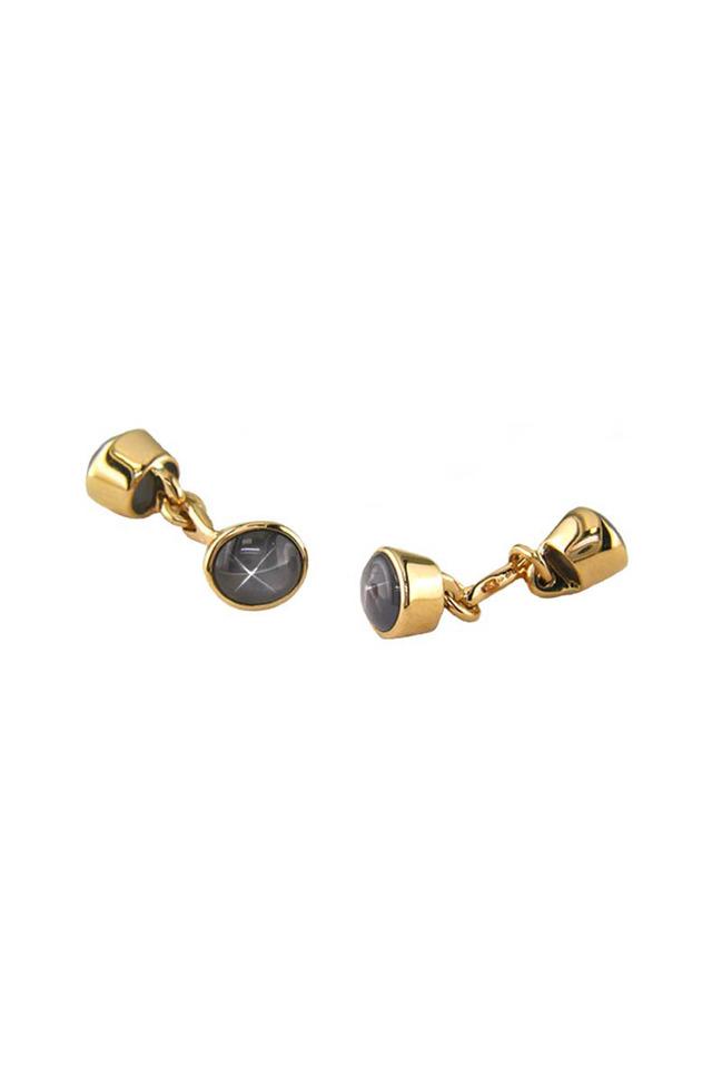 Gold Star Sapphire Cuff Links