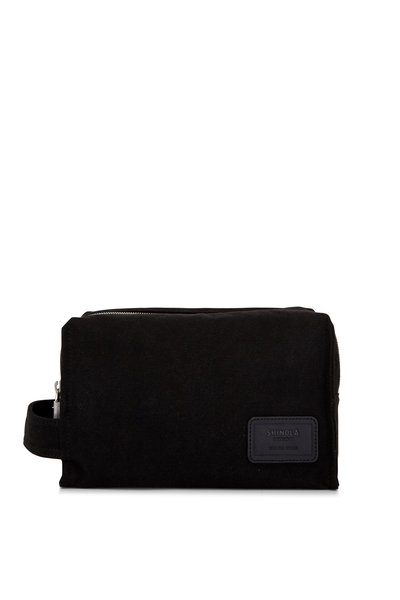 Shinola - Bert Black Canvas Double Zip Dopp Kit