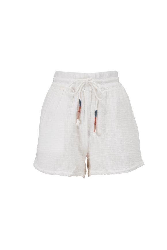 Faherty Brand Topanga White Organic Cotton Shorts