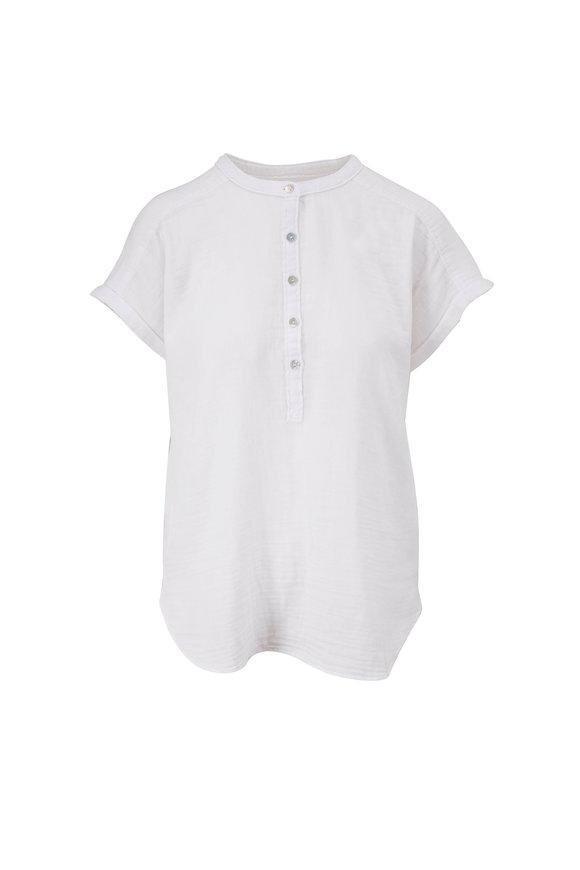 Faherty Brand Desmond White Gauze Top