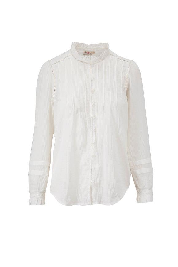 Faherty Brand Willa White Organic Cotton Top