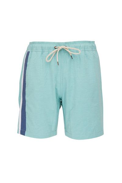Faherty Brand - Beacon Teal Stripe Swim Trunks