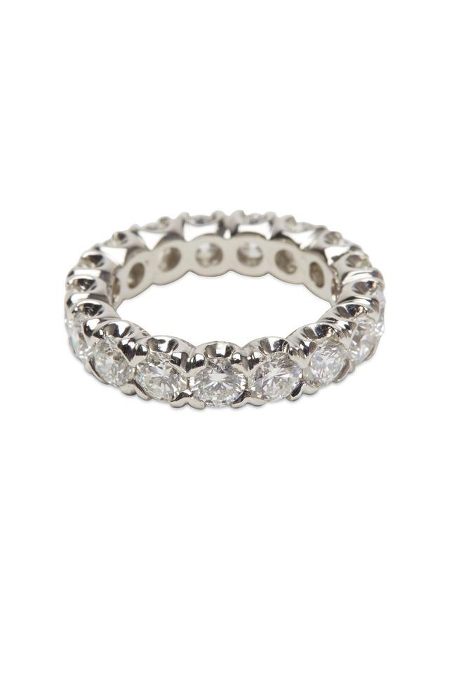 Platinum White Diamond Guard Ring