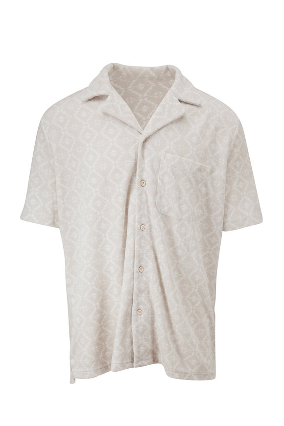 Faherty Brand Stone Cabana Terry Cloth Shirt