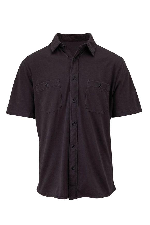 Faherty Brand Seasons Washed Black Short Sleeve Shirt