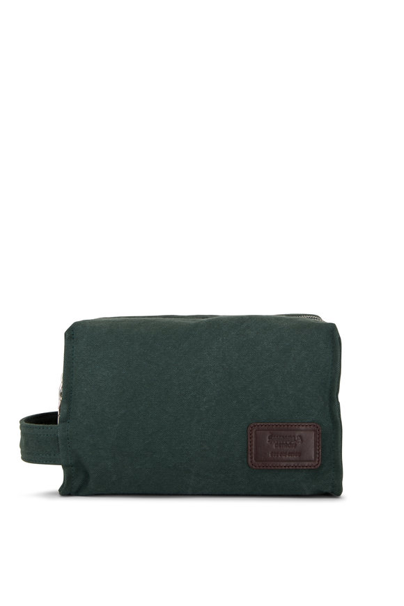 Shinola Bert Forest Canvas Double Zip Dopp Kit