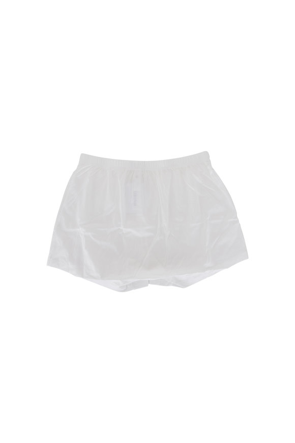 Hanro  White Cotton Boxer Short