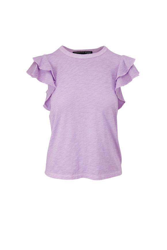 Veronica Beard Akeela Lavender Flutter Sleeve T-Shirt