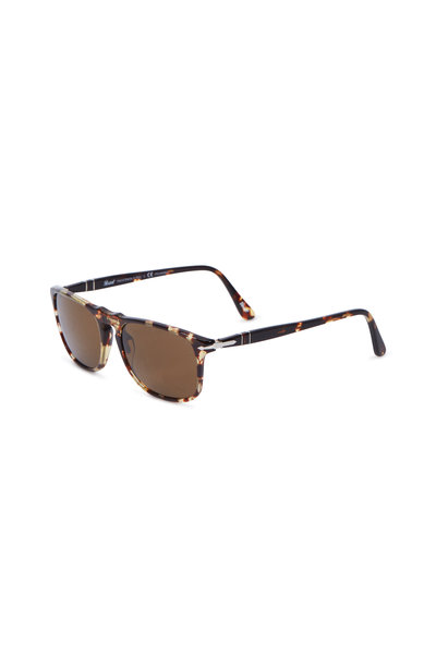 Persol - Square Light Havana Polarized Sunglasses