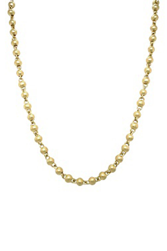 Sylva & Cie 18K Yellow Gold Bead Chain Necklace