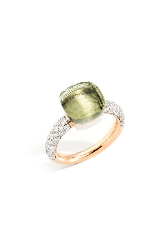 Pomellato Rose Gold Classic Nudo Prasiol Ring