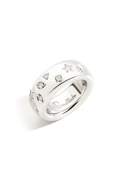 Pomellato - White Gold Medium Iconica Diamond Band