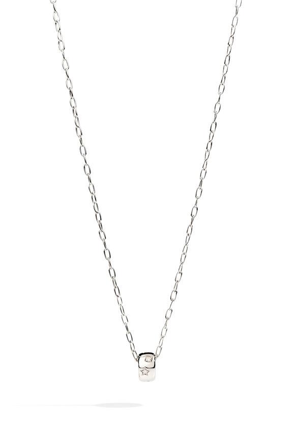 Pomellato White Gold Iconica Diamond Pendant Necklace