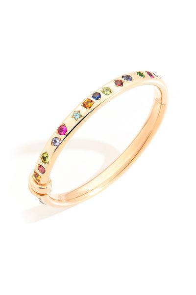Pomellato - Rose Gold Iconica Multi Stone Bangle