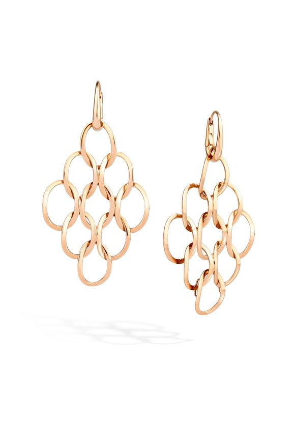 Pomellato Rose Gold Brera Pendant Earrings