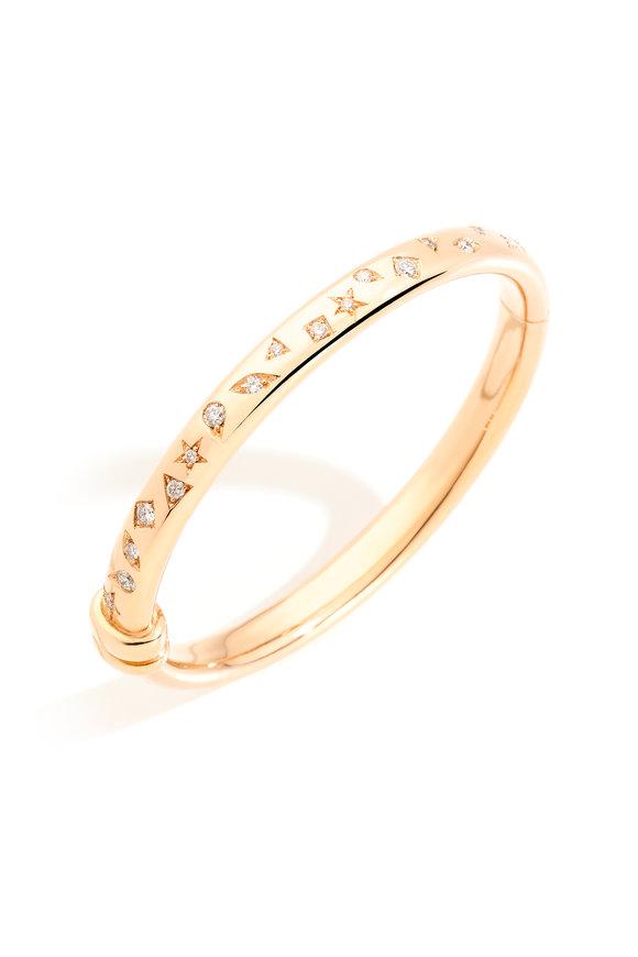 Pomellato Rose Gold Iconica Diamond Bangle