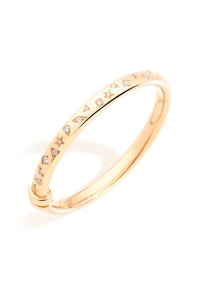 Pomellato - Rose Gold Iconica Diamond Bangle