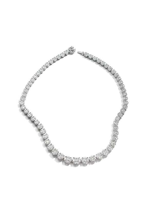 Nam Cho White Gold Diamond Riviera Necklace