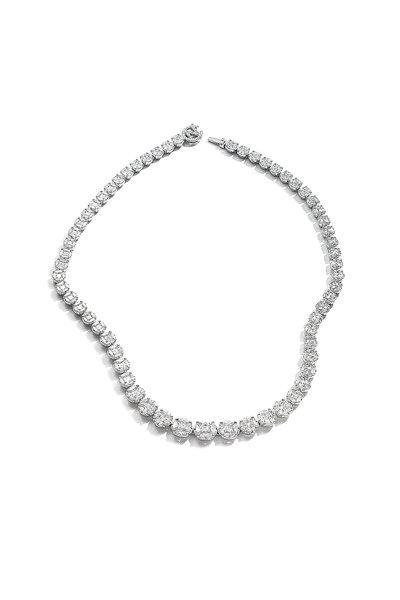 Nam Cho - White Gold Diamond Riviera Necklace