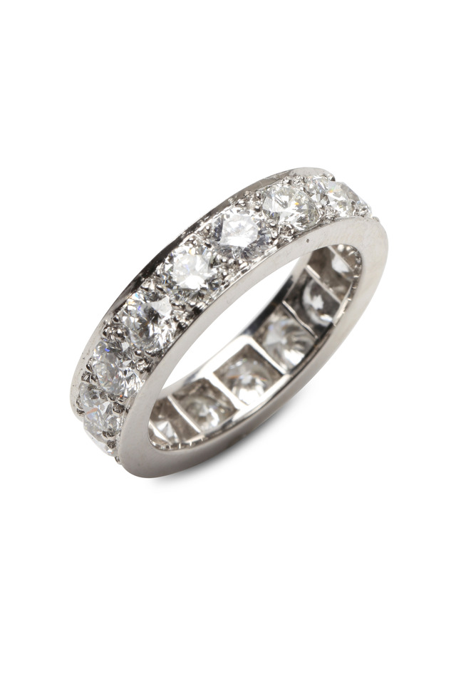 Bead Set Diamond Guard Ring