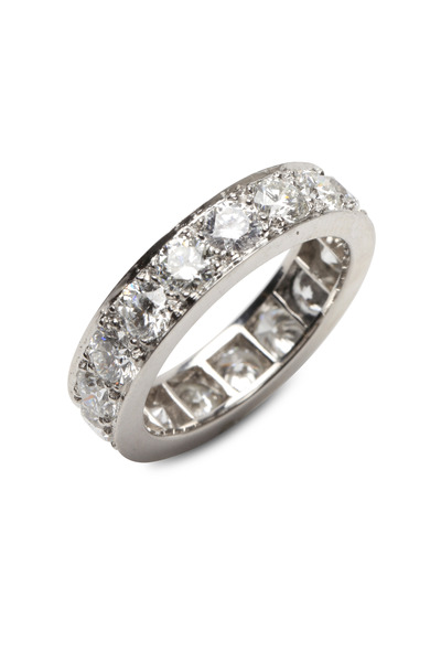 Oscar Heyman - Bead Set Diamond Guard Ring