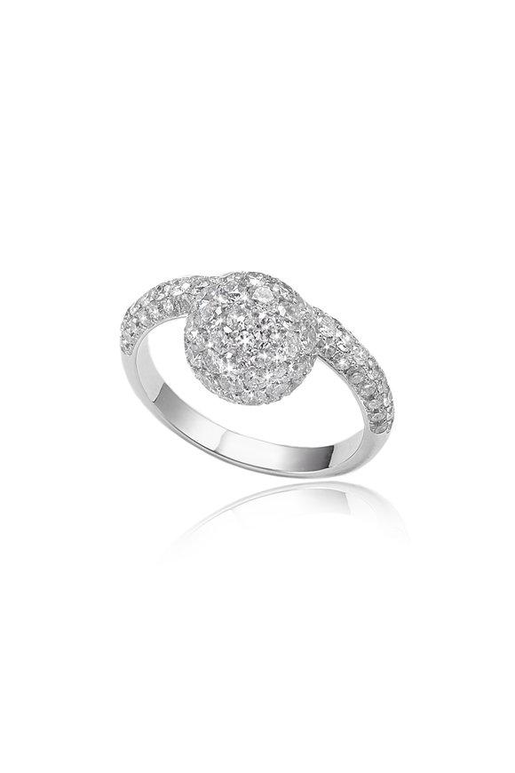 Nam Cho White Gold Diamond Hanging Ball Ring
