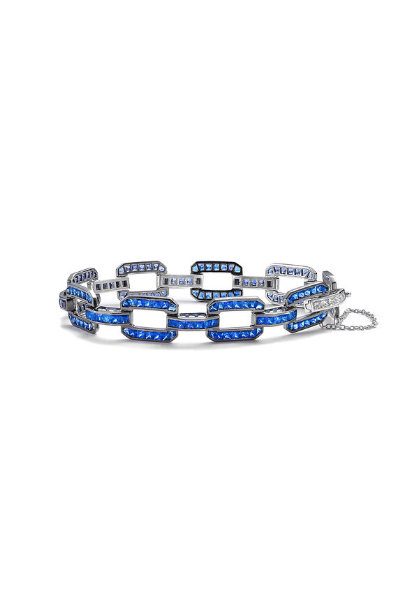 Nam Cho Sapphire & Diamond Octagon Link Bracelet