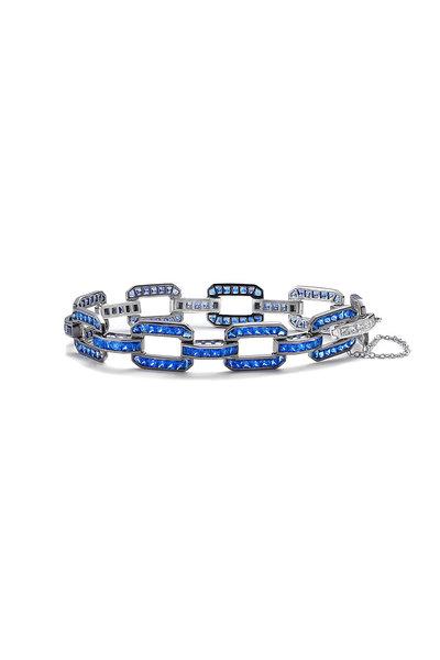 Nam Cho - Sapphire & Diamond Octagon Link Bracelet