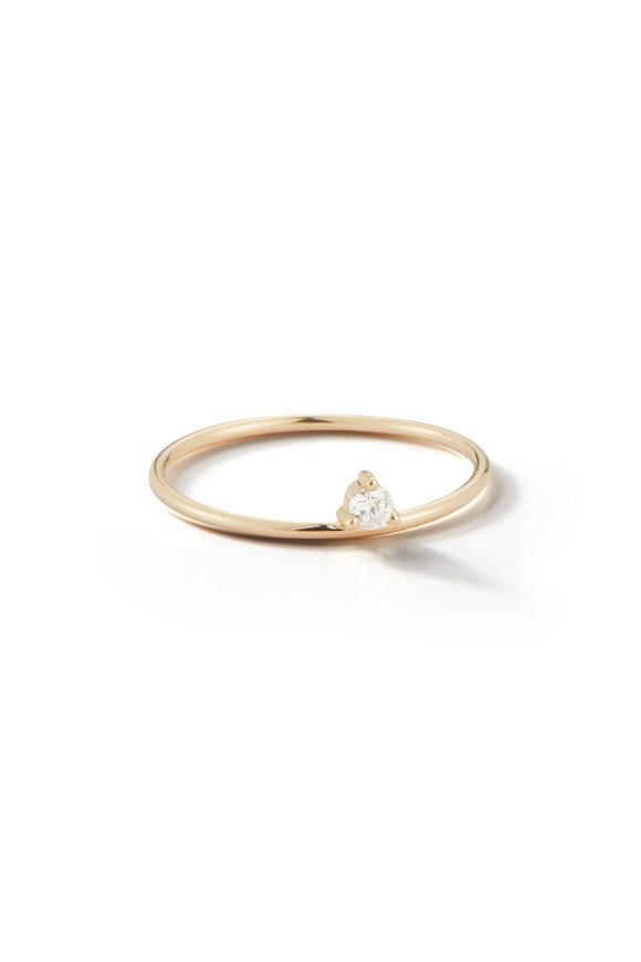 Mizuki Yellow Gold Baby Tiara Diamond Ring
