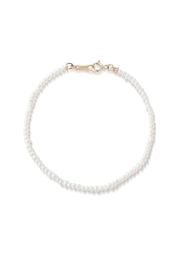 Mizuki Yellow Gold Fresh Water Pearl Bracelet