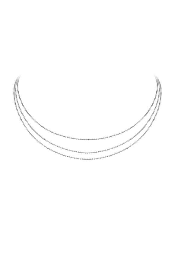 Julez Bryant White Gold Layered Chain Necklace
