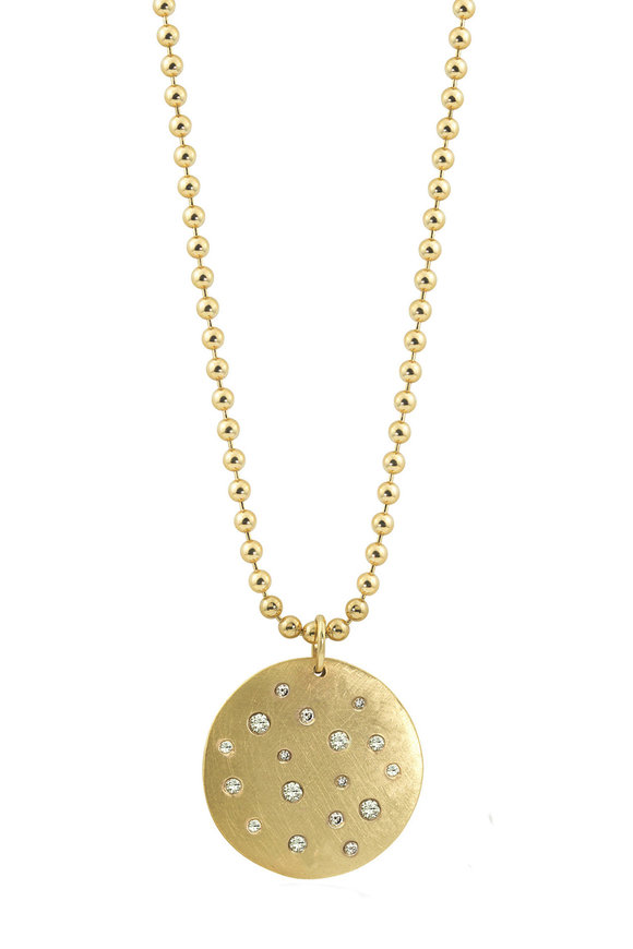 Julez Bryant Yellow Gold Scattered Diamond Chain Necklace