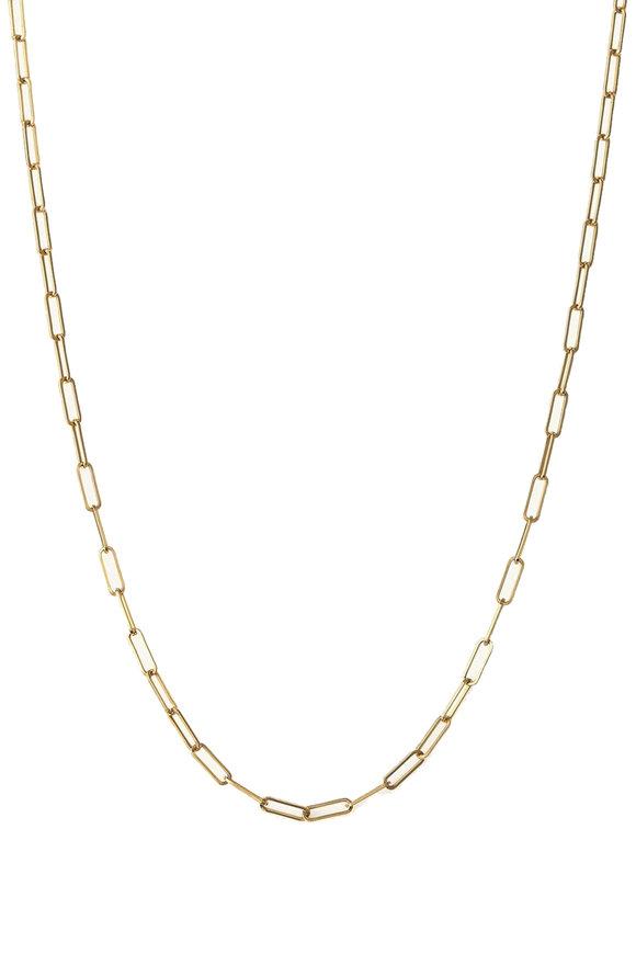 Julez Bryant Yellow Gold Rectangular Link Chain Necklace