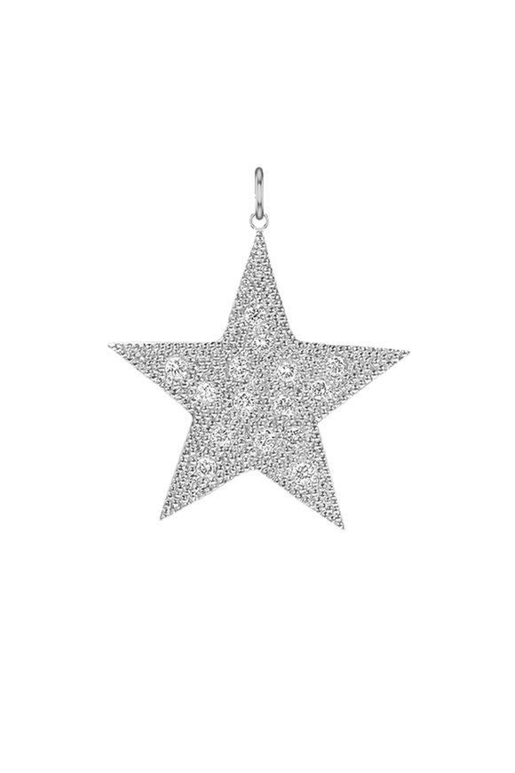 Julez Bryant White Gold Diamond Bead Star Pendant