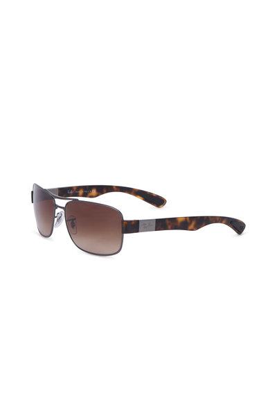 Ray Ban - Square Brown Tortoise Sunglasses