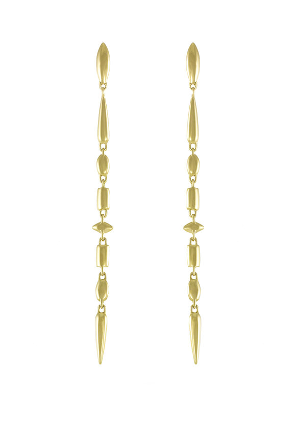 Etho Maria Yellow Gold Long Dangle Earrings