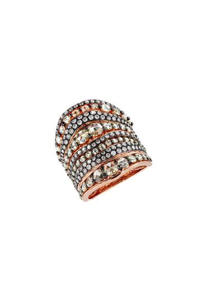 Etho Maria - Rose Gold White & Brown Diamond Ring