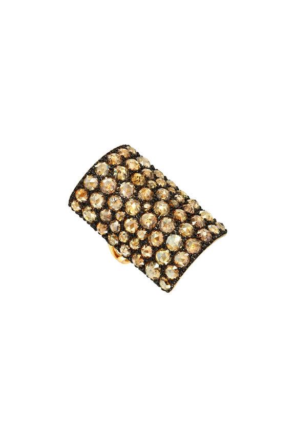 Etho Maria Yellow Gold Brown Diamond Table Ring