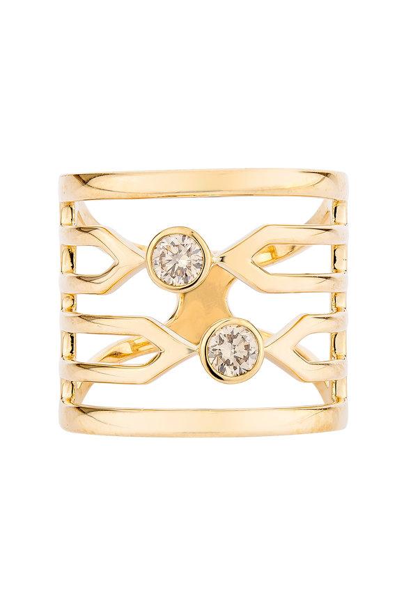 Etho Maria Rose Gold Brown Diamond Cocktail Ring