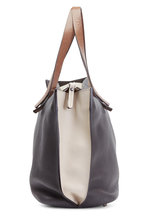 Brunello Cucinelli - Gray & Cream Leather Tote