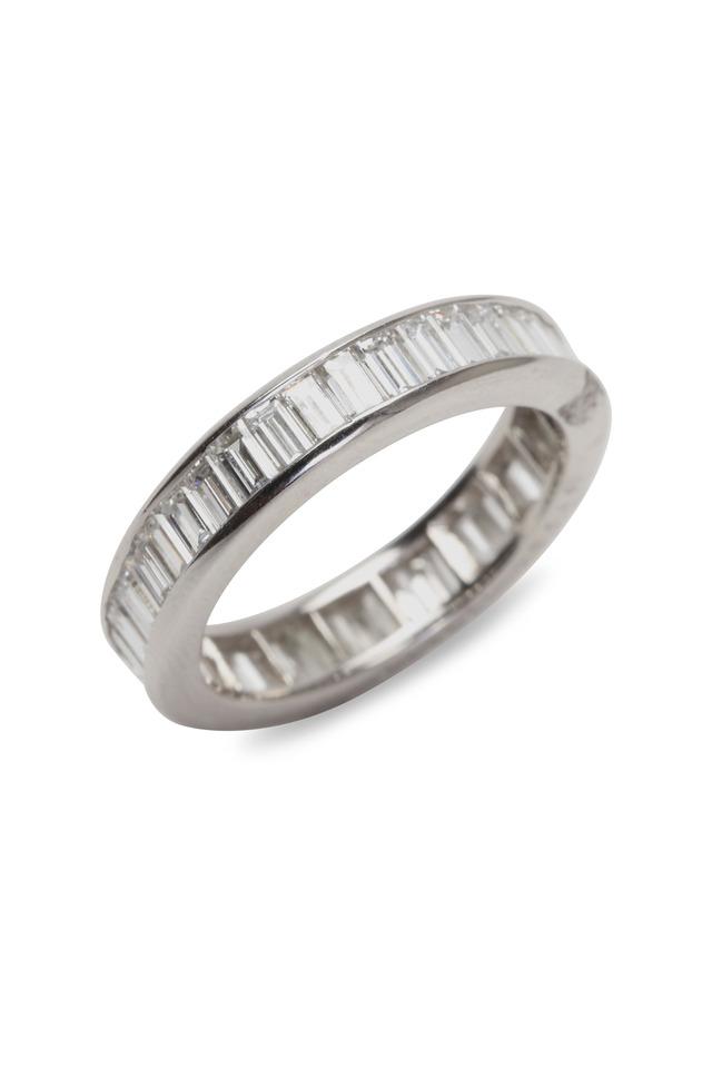Cross Set Diamond Guard Ring