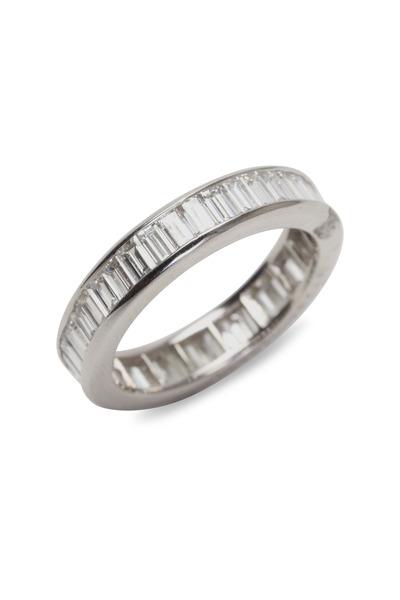 Oscar Heyman - Cross Set Diamond Guard Ring