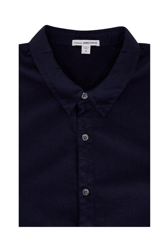 James Perse Navy Button Down Standard Shirt