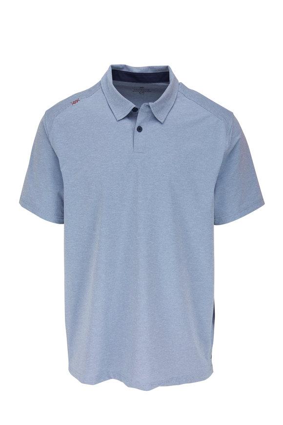 Rhone Apparel Commute Blue Stripe Short Sleeve Polo