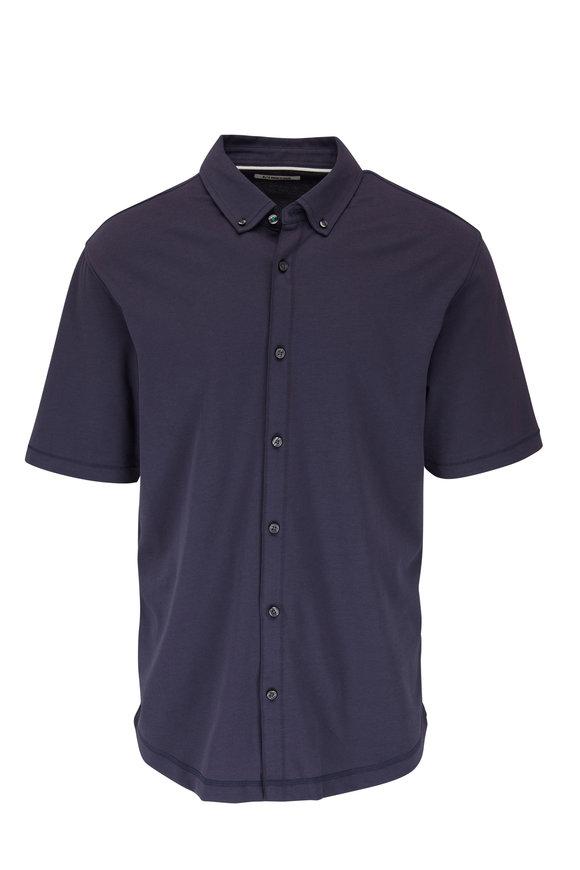 Linksoul Aldo Navy Dry Tek Full-Button Shirt