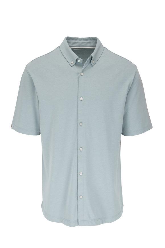 Linksoul Aldo Slate Button Down Short Sleeve Shirt