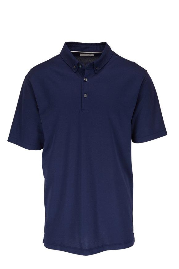 Linksoul Midnight Blue Oxford Short Sleeve Polo