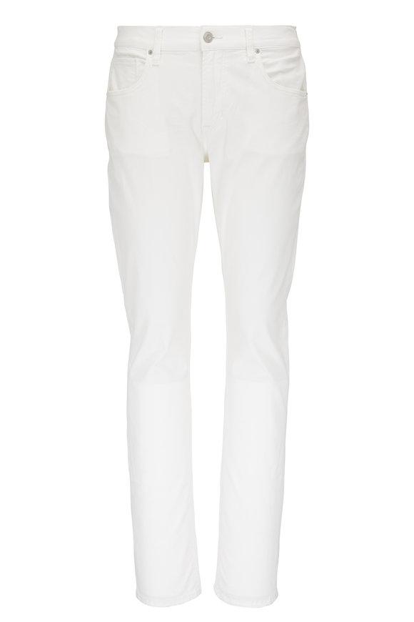 Hudson Clothing Blake Pale White Slim Straight Jean