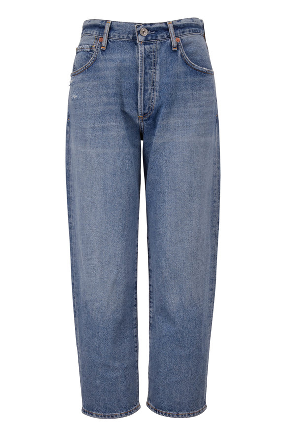 Citizens of Humanity Emery Old Blue High-Rise Relaxed Crop Jean