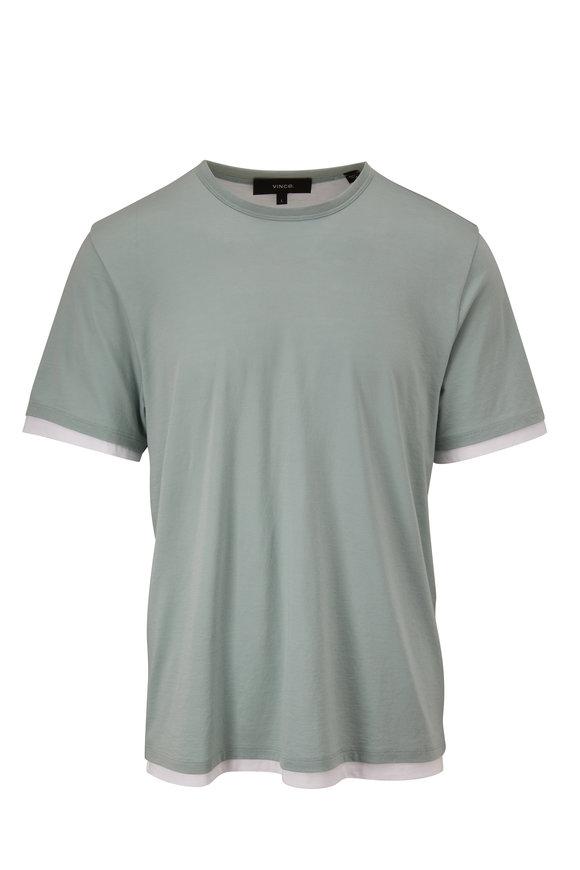 Vince Pool Double Layer Crewneck T-Shirt